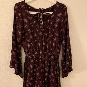 Lightweight long sleeve romper from AE
